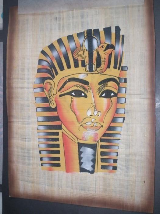 Papyrus Egiptean original, autentic, pictat manual