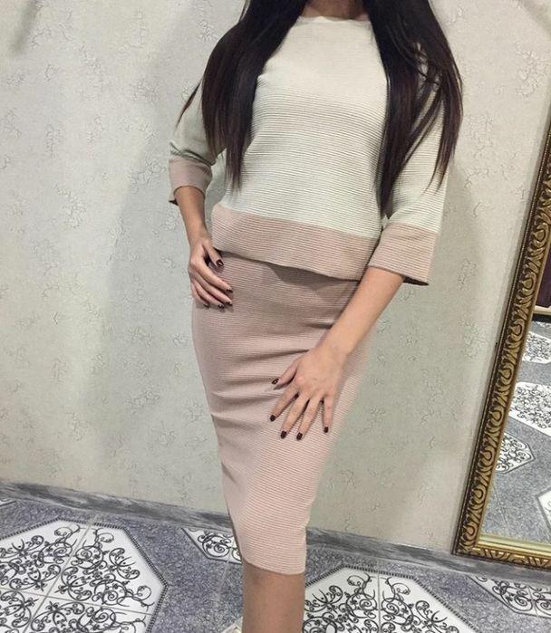 продам двойку (юбка-карандаш,с разрезом сзади и укороченную кофту) Уральск - изображение 1