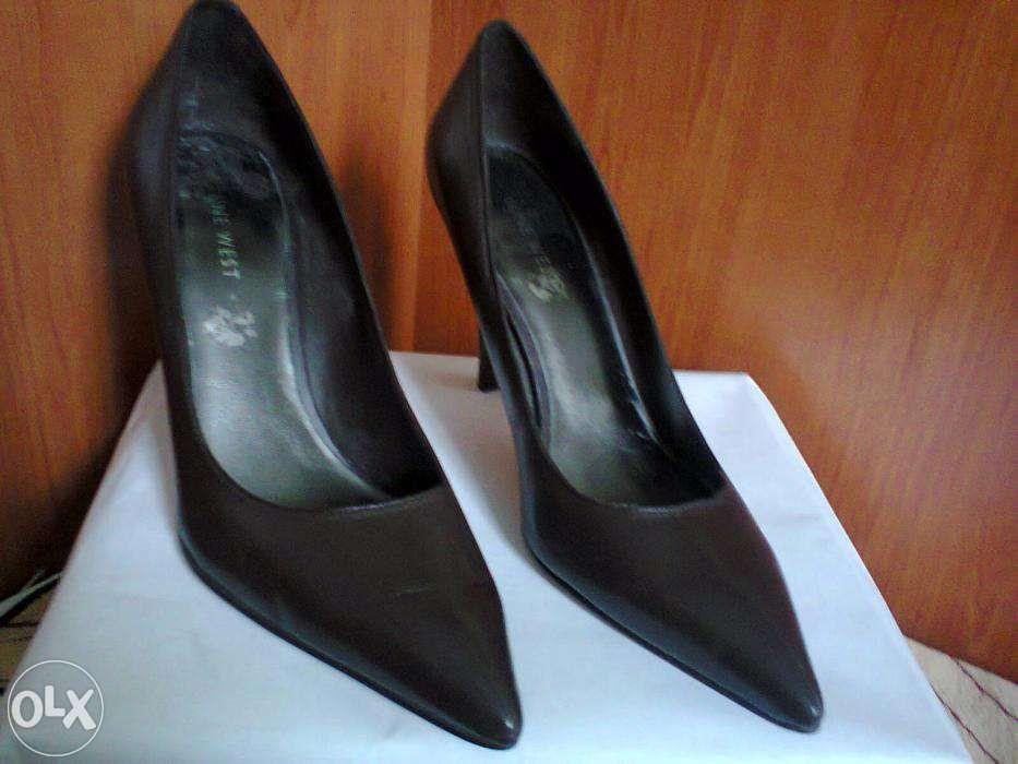 Pantofi dama, maro inchis, marimea 8.5 (echivalent 40), toc 9.5