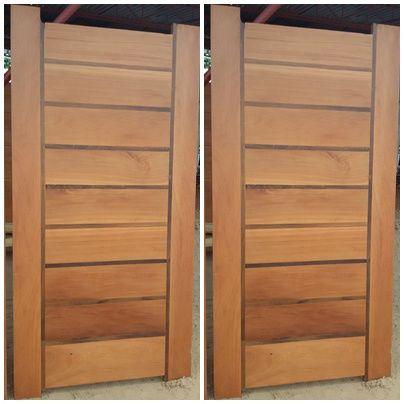 48- Portas de madeira maciça, aros, janelas, cozinha americana e mais