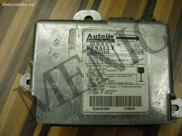 Compiuter Airbag -fara Crashdata Renault Megane II