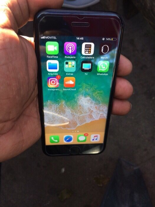 iPhone 7 32gb black fora da caixa
