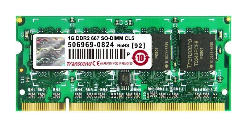 Memorie DDR2 667Mhz Transcend Jetram 1Gb PC2-5300S
