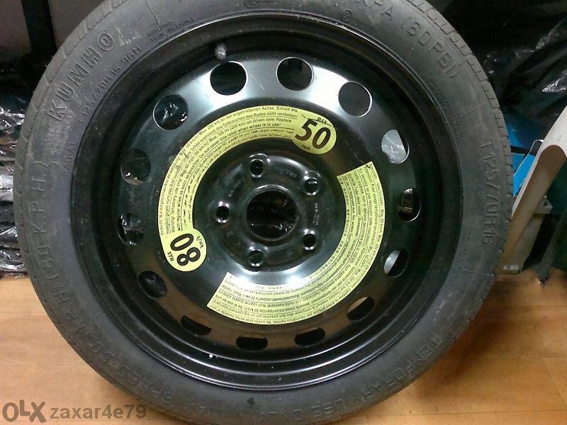 резервна гума патерица за ауди и фолксваген 5x112 16цола