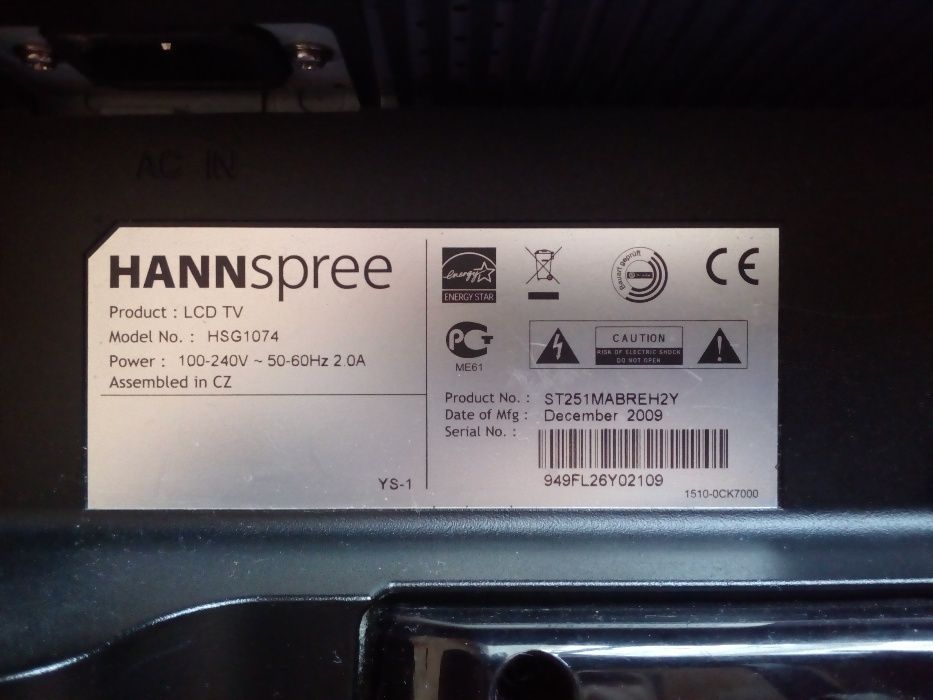 tv lcd HANNspree 25 inch