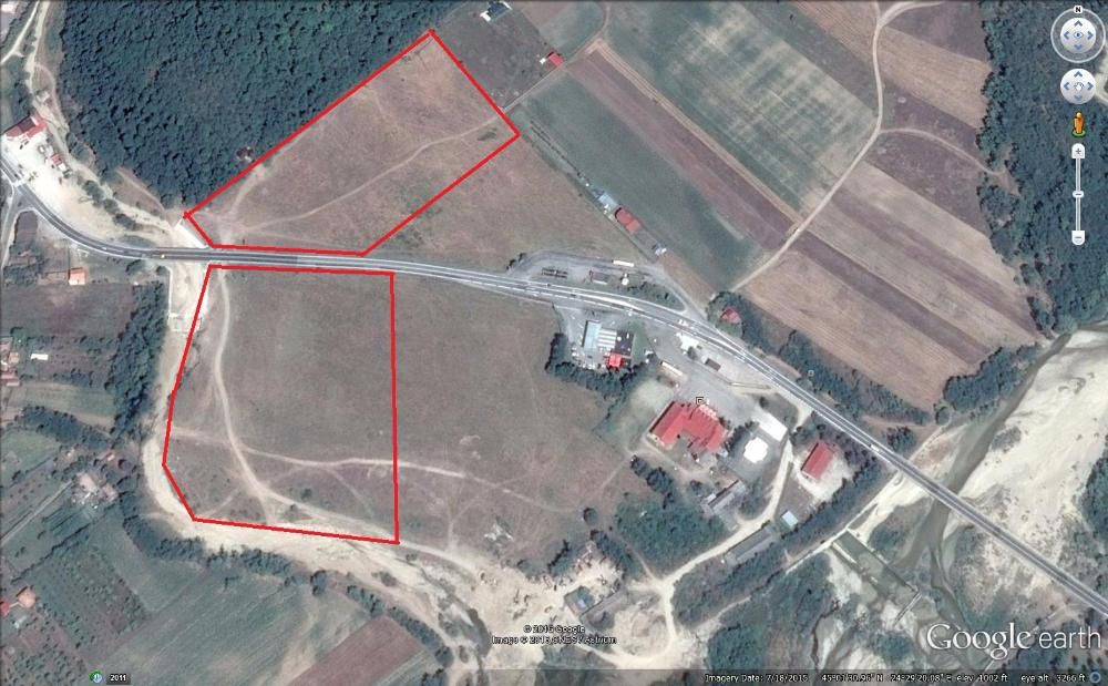 Vanzare  terenuri constructii  55 ha Valcea, Milcoiu  - 0 EURO