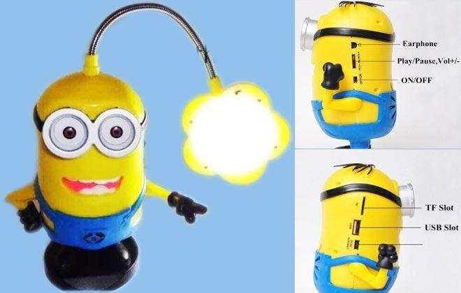 Lampa Veioza Minion cu bluetooth si boxa