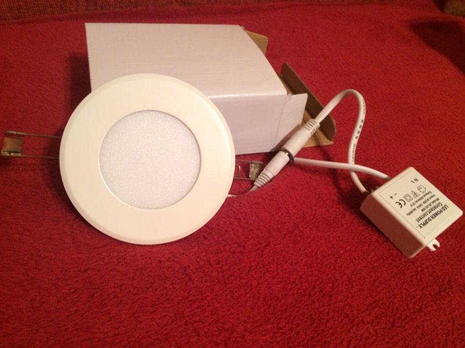 Aplice LED Incastrabile rotund 6W, - 220V /Lampa plafon, rigips