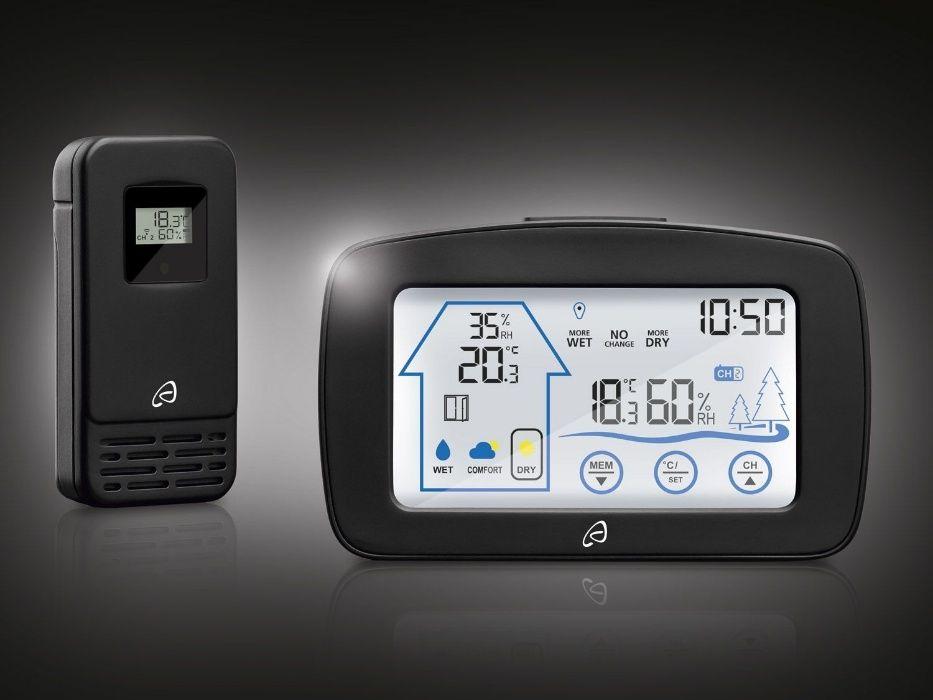 HIGROMETRU cu touchscreen STATIE METEO cu termometru interior-exterior
