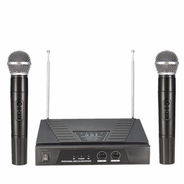 Set de doua microfoane wireless Golden Age Made in SUA peste Shure