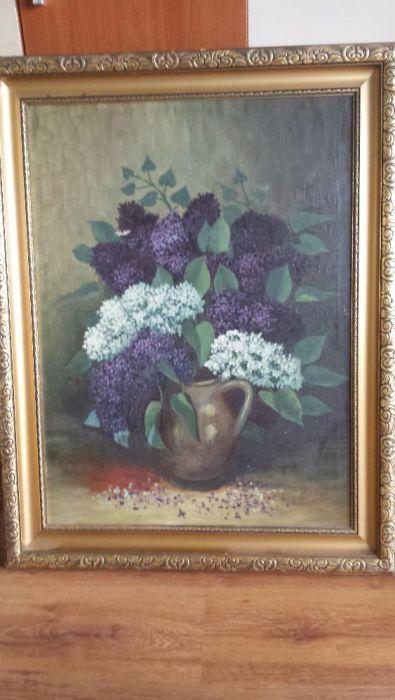 Pictura ulei pe panza semnata WEBER , pictor austriac