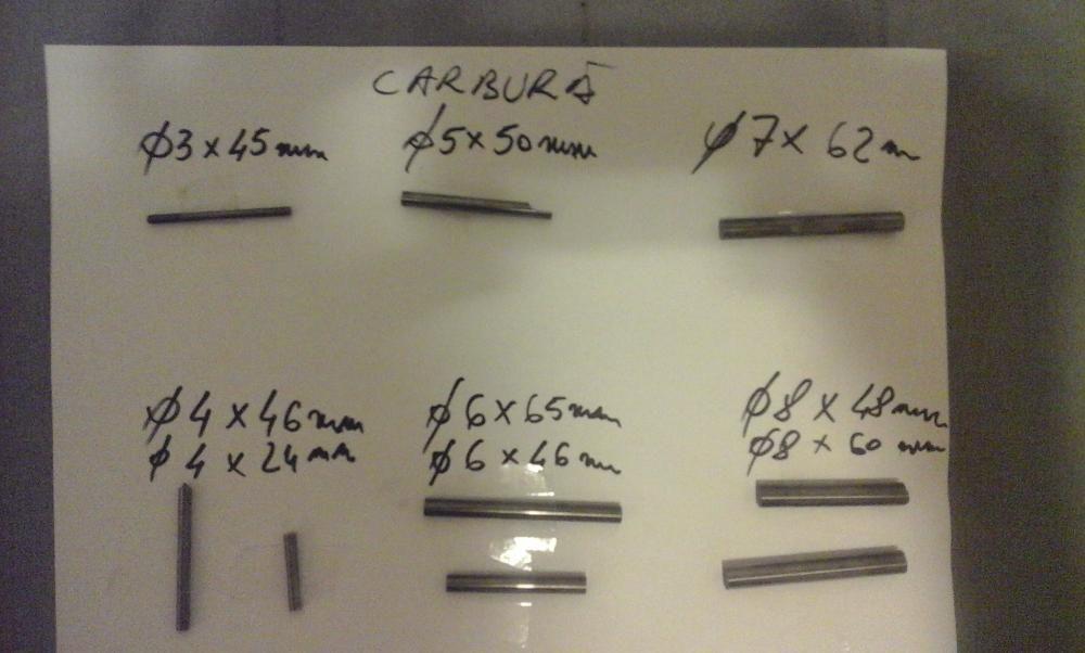 bare de carbura 2,3,4,5,6,7,8,10,12,14,16,32mm;strung, freza, alezat