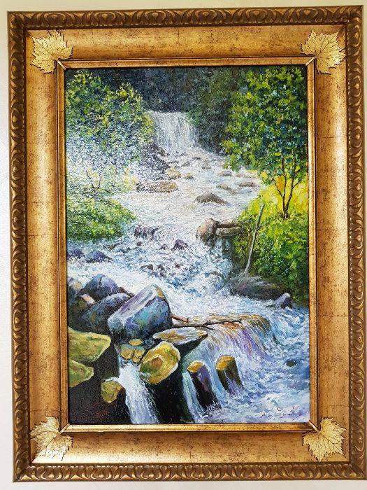 "Маслена картина ""Водопад"" италиански художник"