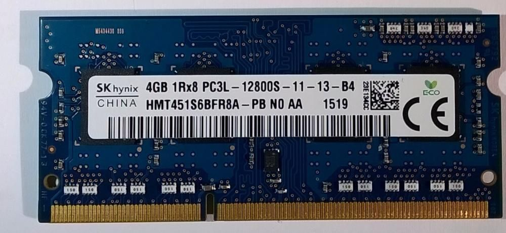 Ram laptop 4GB DDR3 1600 Hynix Sodimm HMT451S6BFR8A-PB PC3L Low 1.35V