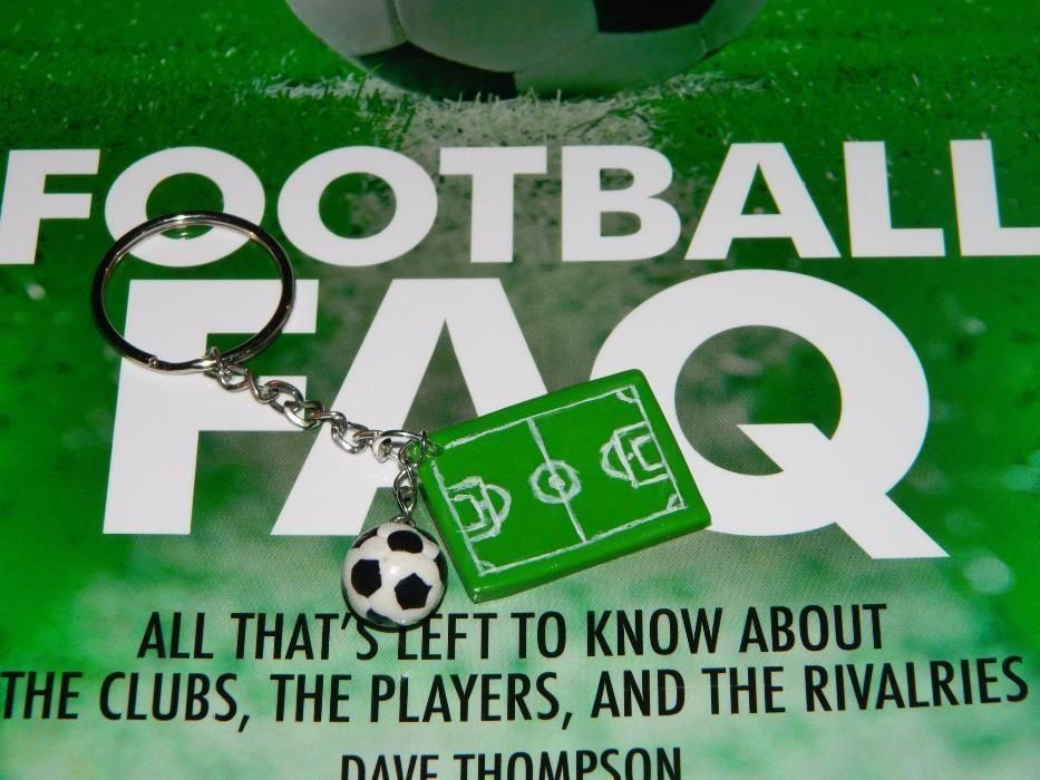 Breloc/pandantiv Teren si Minge de Fotbal