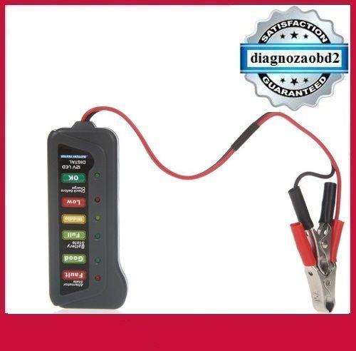 Tester auto TIROL T16897b baterie / alternator 12V cu 6 leduri