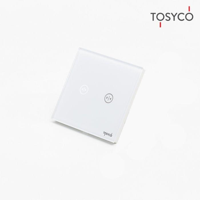 Tosyco.ro Intrerupator draperie wireless cu touch (tactil) din sticla