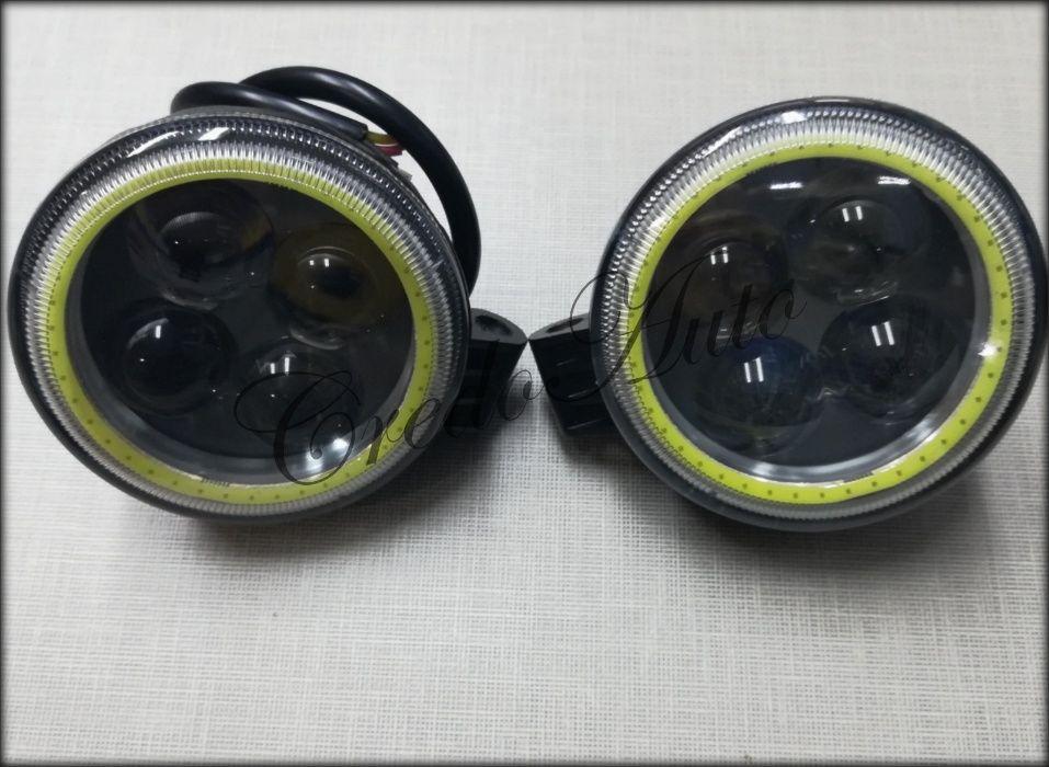 Ново!Диодни прожектори 4D 12W cree 12V(IP67-68прахо/водоустойчиви)
