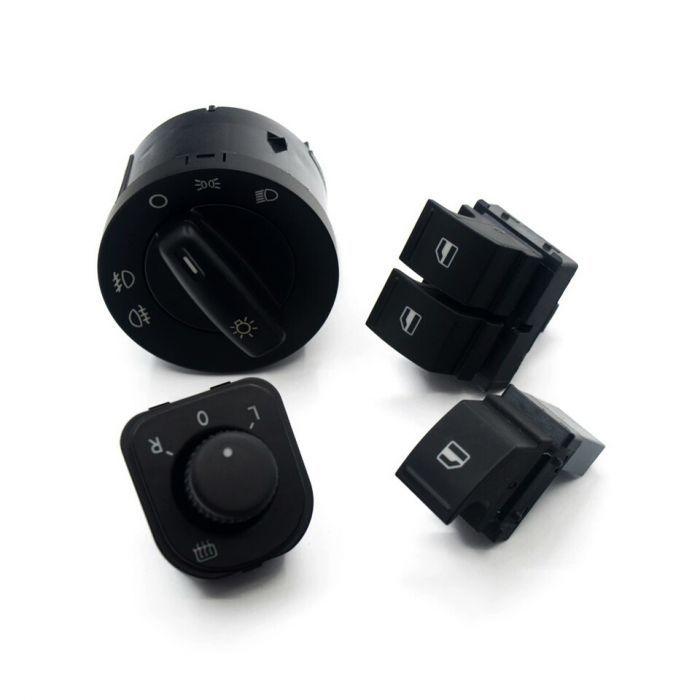 Set butoane doua geamuri electrice bloc lumini Volkswagen Golf Touran