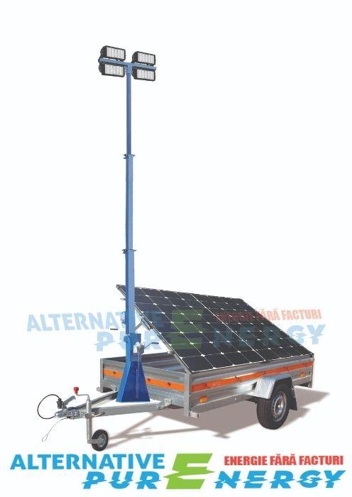 Turn de Iluminat ECO cu Generator Fotovoltaic Mobil APE 200