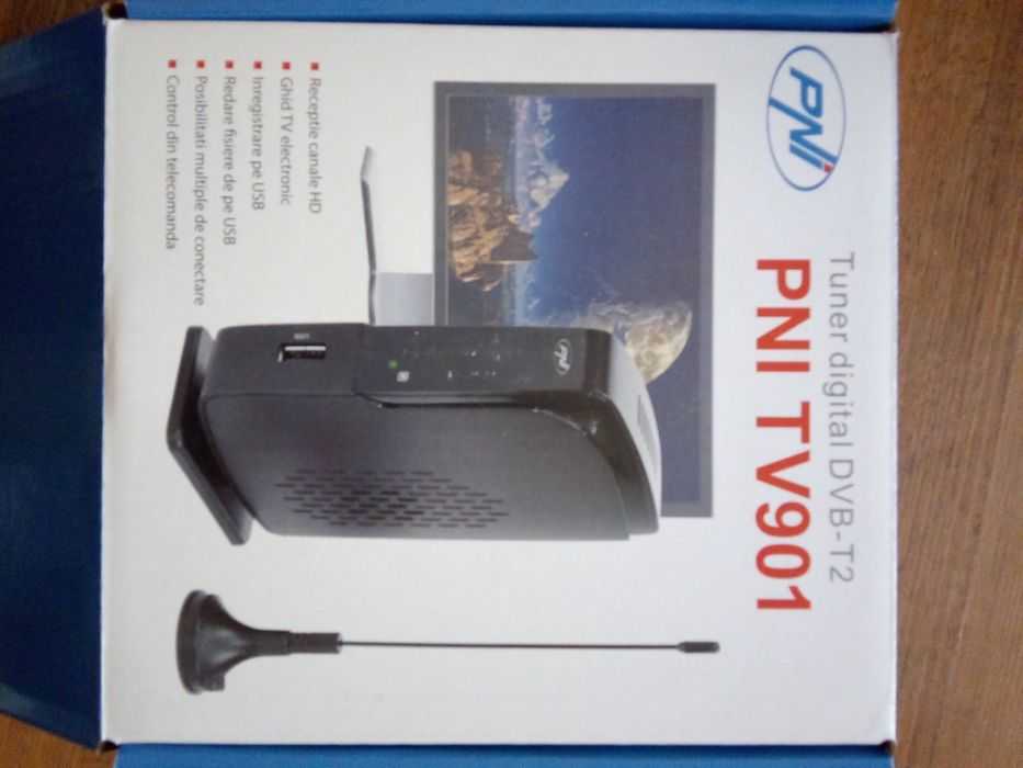Tuner digital DVB-T2 PNI TV901