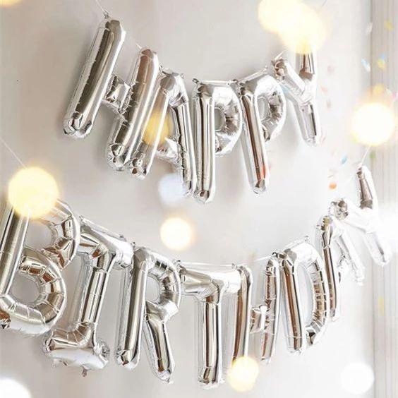 Baloane decorative, litere aniversare, zi de nastere - cifre