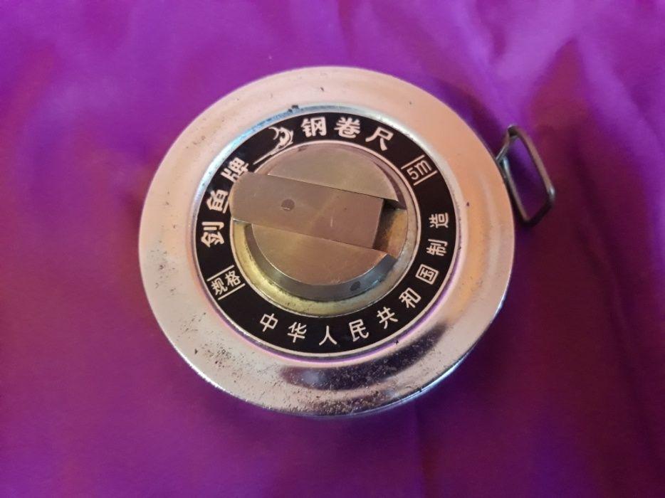 Vand ruleta chinezeasca veche din alama cu L de 5 m