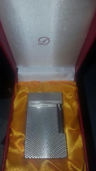 Bricheta Silver Cote D'azur Lighter St. DuPont Paris DuPont Lighter