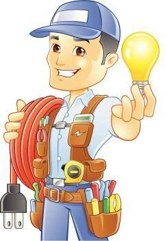 Há electricista de construção civil.