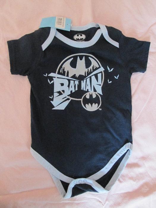 Нови памучни бодита за момче 24 месеца Батман, Супермен