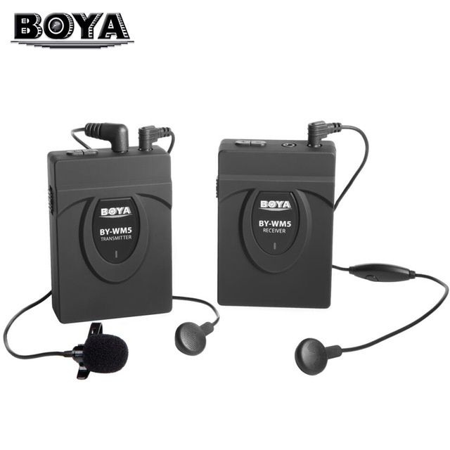 Lavaliere wireless BOYA BY-WM5, 50m, studio, chat, vlogger, conferinta