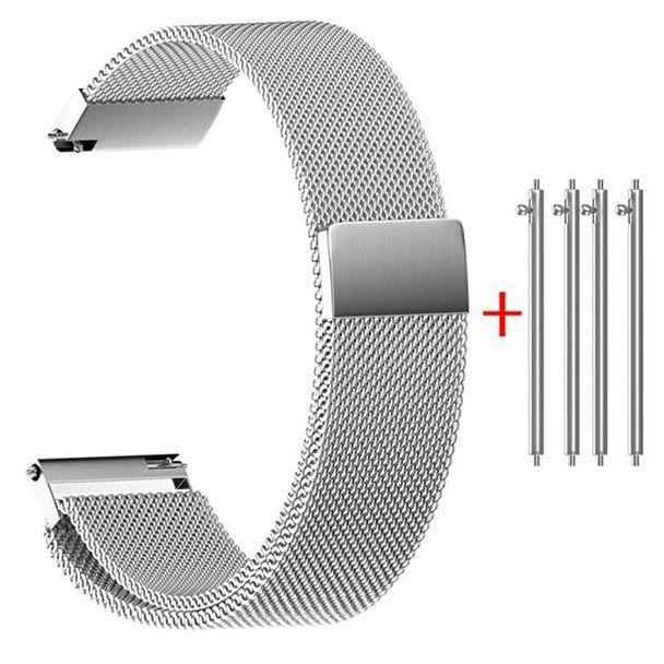 Bratara otel inoxidabil cu magnet pentru ceas, 16-22mm, KC-C150