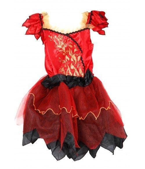 Costum Halloween, carnaval NOU, rochie Diavolita 3-4 ani si 11-12 ani