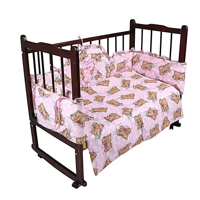 """Комплект """"Спящие мишки"""" (3 предмета), цвет розовый НОВЫЙ В НАЛИЧИИ"""