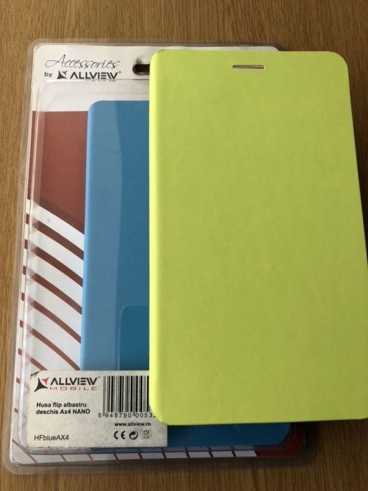 Husa Allview Flip Ax4 Nano Verde Albastra
