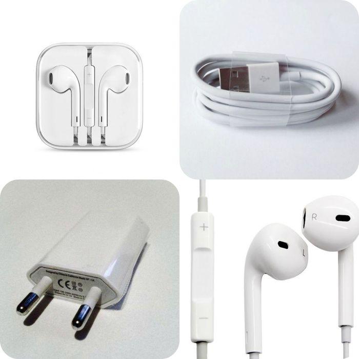 Pachet incarcator, cablu, casti earpods iPhone 5S, 6S, 7, 8, 6 Plus