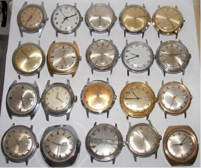 20 ceasuri vechi de mina TIMEX defecte