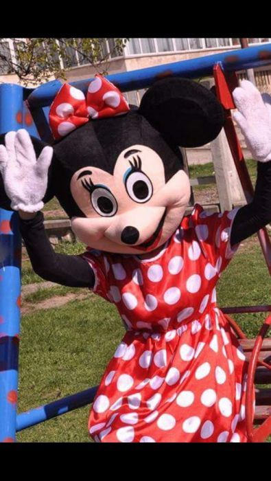 Minnie Mouse si Mickey Mouse Mascote