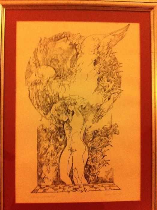 """Vând aquaforte/hartie Stan Done, exemplarul 83/100, """"Luceafarul"""", 1989"""