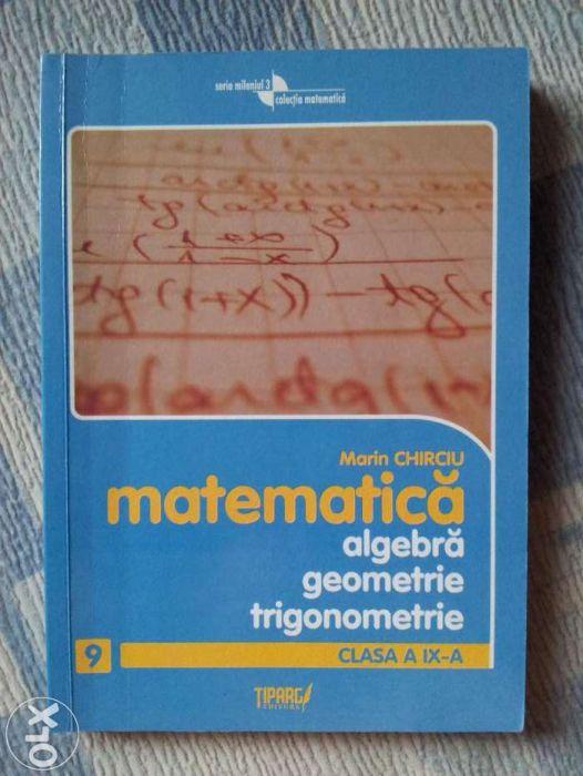 Matematica - culegere cls. a 9-a - Ed. Tiparg