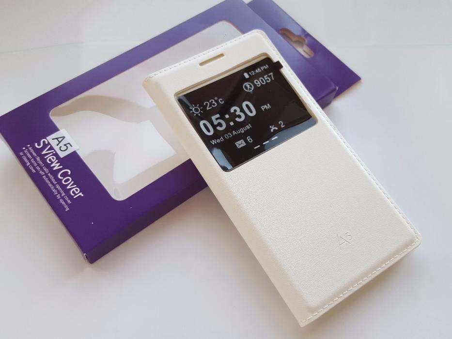 Husa ALBA Flip Cover Samsung Galaxy A5 / A500F / A500FU + Folie