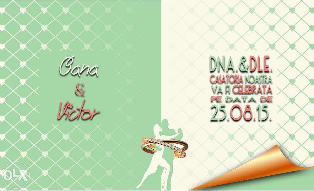 Invitatii de nunta,botez sau evenimente speciale