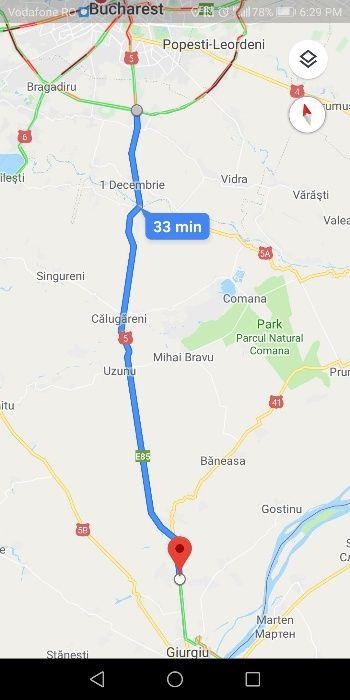 Teren 45km Bucuresti 5000mp DN5 Giurgiu Stradal 20ml iesire parau
