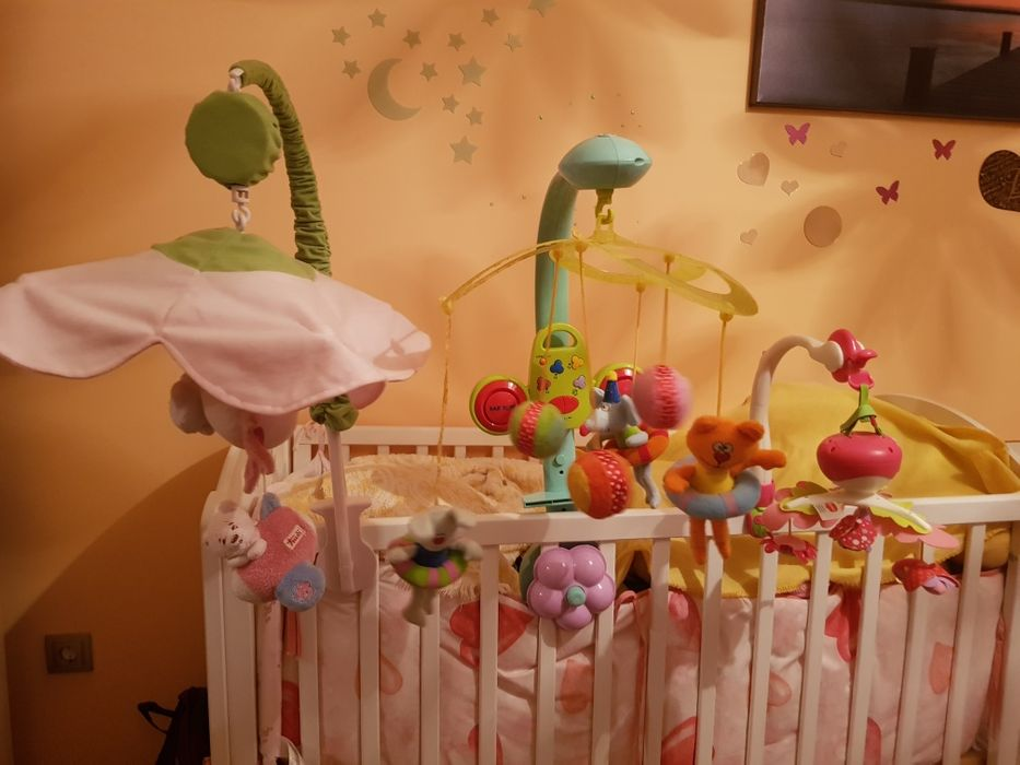 Музикални въртележки Tiny Princess, Taf toys и Baby bow