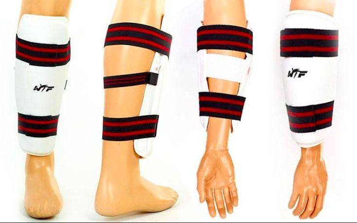 Защита (Щитки) ног и рук (предплечья) для тхэквондо с бесплатной доста