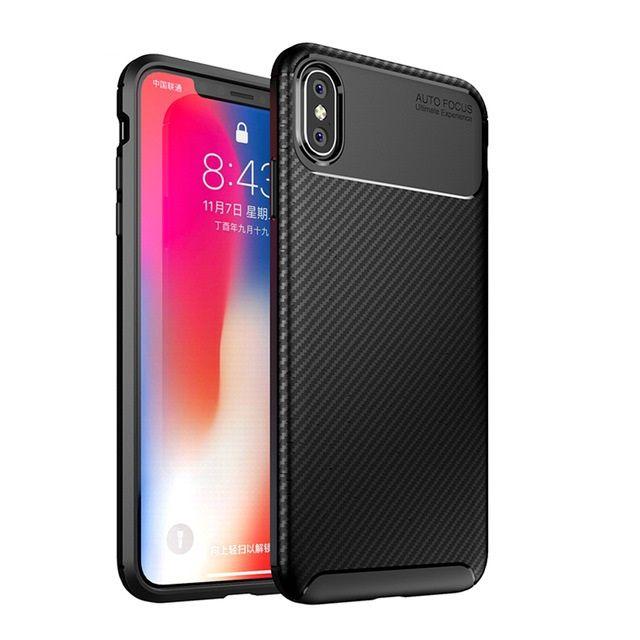 Iphone X XS 10 XR XS MAX - Husa Auto Focus Din Silicon 0.5mm Neagra