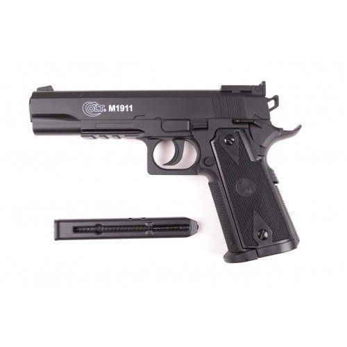 Pistol Airsoft Colt M1911 6mm, (CA NOU)+MUNITIE Cu Co2 Gaz