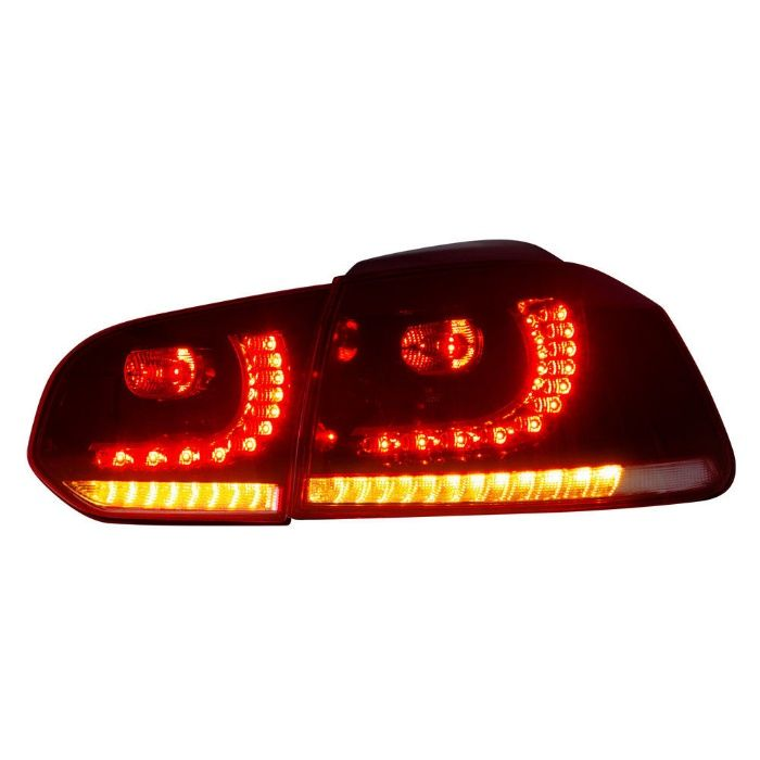 Stopuri FULL LED Golf 6 2008-up R20 Design Semnal Secvential Dinamic