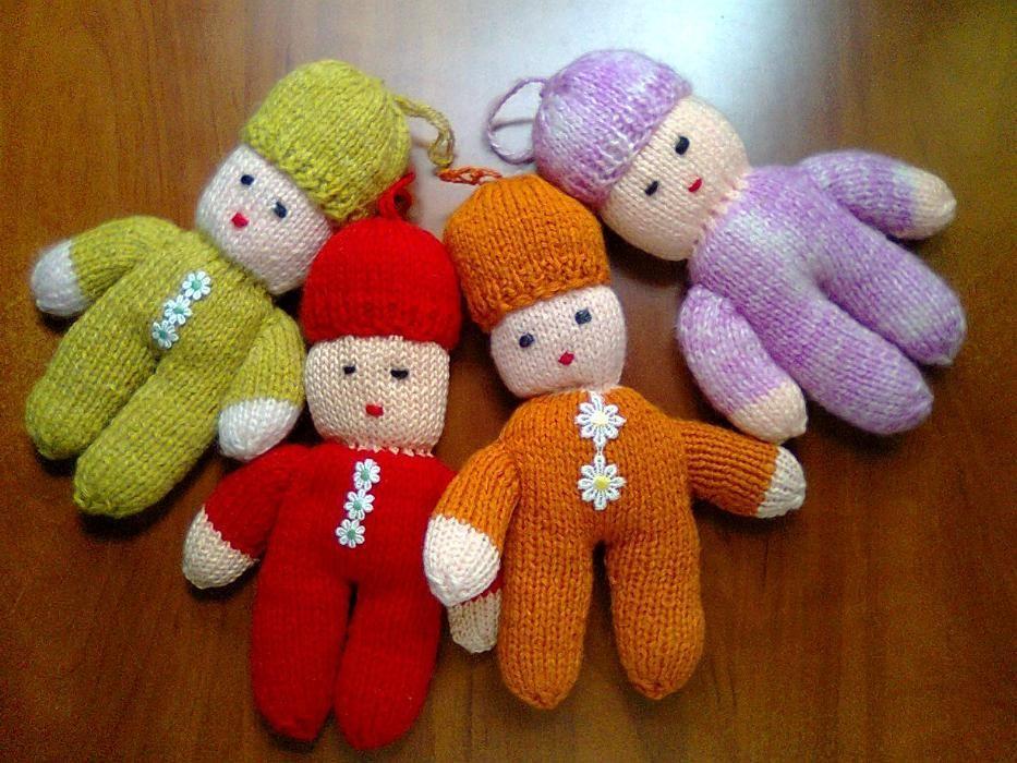 Papusa jucarie tricotata pentru copii - tricotaj manual unicat