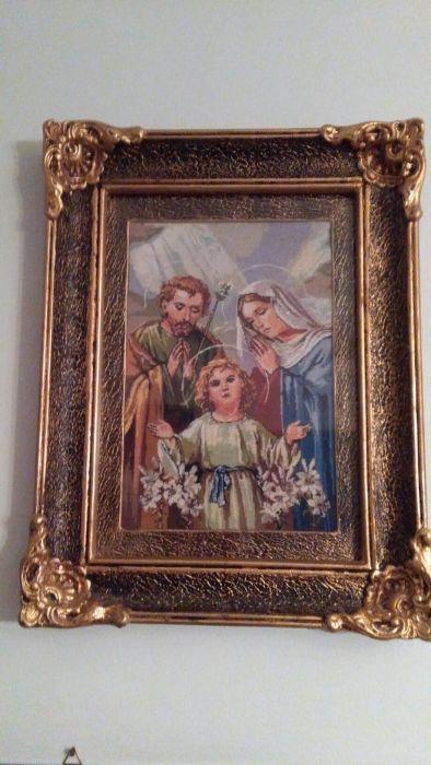 Tablou cusut goblen Familia Sfanta
